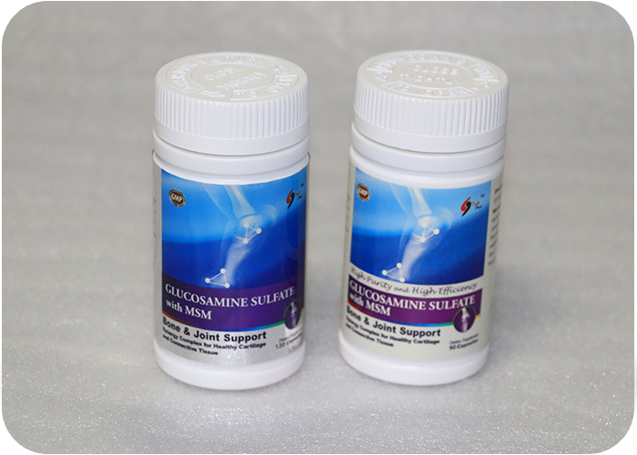 Glucosamine sulfate with MSM